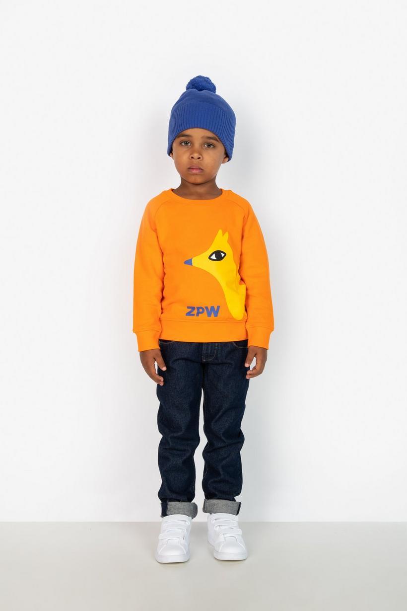Oranje sweater - met print, ZulupaPUWA - Zulu Papuwa